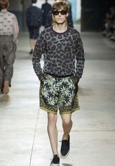 Belgian designer Dries Van Noten took to Paris to unveil yet another collection of eccentric menswear, this time citing Marilyn Monroe as inspiration.