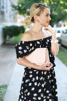 Poor Little It Girl - Off The Shoulder Floral Dress - @poorlilitgirl