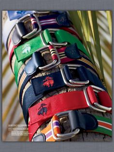 Brooks Brothers summer 2012..Ribbon belts