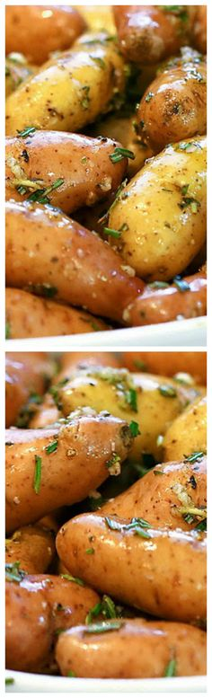 Oven Roasted Rosemary Garlic Fingerling Potatoes ~ The easiest side dish recipe…