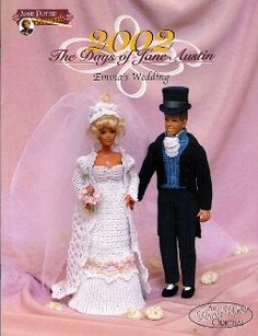 """The cover of the """"Days of Jane Austin - Emma's Wedding"""" crochet pattern by Annie Potter"""