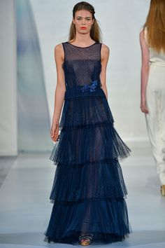 See all the Collection photos from Luisa Beccaria Spring/Summer 2014 Ready-To-Wear now on British Vogue Luisa Beccaria, Beautiful Models, Beautiful Gowns, Marchesa, Elie Saab, Glamour Moda, Jessica Parker, Milano Fashion Week, Milan Fashion