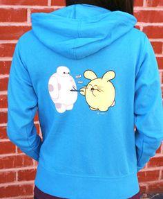 Poke Poke Women's Zip-Up Hoodie by Fat Rabbit Farm