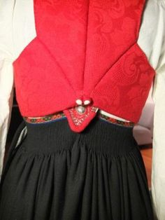 Vest, Damask, Embroidery, Folklore, Norway, Magic, Craft, Design, Fashion