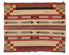 Navajo Saddle Blanket, - Cowan's Auctions