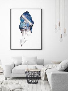 Framed Poster / Canvas - Universe by ANDA DESIGN © www.verve.gallery (art shop)  #art #watercolor #planets #universe #woman #naked #space # body #stars #nebula  #painting #buyart #instaart #artforwall #artprints #wallart #walldecor #decor #home #interiordesign #beauty #create #amazingart #top Orion Nebula, Hubble Space Telescope, Shop Art, Wall Decor, Wall Art, Astronomy, Insta Art, Amazing Art, Buy Art