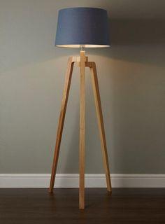 Antique Wooden Floor Lamp