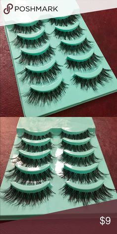My Favorite False Eyelashes-- Natural, Soft Cross This is a pack of 5 soft cross long eyelashes. All 5 pairs included in purchase! These are great for day to day, or a big night out and easy to trim and adjust as you like them. Makeup False Eyelashes