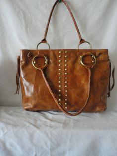 Pre-Owned Brown Leather Handbag******. by RamsesTreasure on Etsy