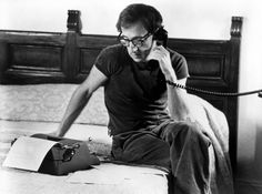 Woody Allen and his typewriter (forever my favorite combination)