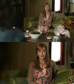 """Practically Everything Celeste Wore on """"Big Little Lies"""" with Our Scattered Thoughts on What it All Meant Celebrity Outfits, Celebrity Style, Big Little Lies, How To Style Bangs, Blonde Women, Nicole Kidman, Flower Dresses, Costume Design, Pink Dress"""