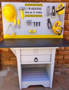 DIY Toy Workbench - I think James will have to have something like this in a few years. So he can help his Daddy, lol.