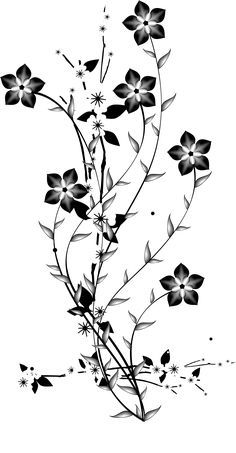 Trendy Flowers Fondos Blanco Y Negro Ideas Flower Background Wallpaper, Flower Backgrounds, Flower Quotes Love, Art Alevel, Leaf Outline, Leaf Clipart, Black And White Painting, Black White, Solid Black