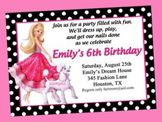 Barbie Fashion Fairytale Birthday Party by ThatPartyChick on Etsy