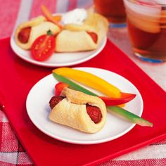 Kid sized corny dogs - appetizers for the rest of us ;)