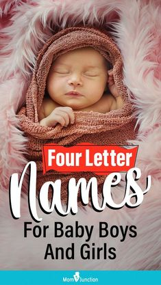 Good things come in small packages, and same is the case with baby names. Four letter names have a class of their own with their striking simplicity and punchy rhythm. These names are cute, quirky and bold, all within a short amount of space. Baby Girl Names, Boy Names, Boy Or Girl, Baby Boy, Pretty Names, Unique Baby Names, Babies, Lettering, Space