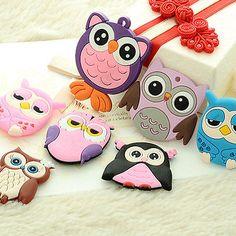 8PCS Children Baby Educational Owl Toys Fridge Refrigerator Magnets Sticker Gift