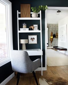 Crate and barrel desk w shelf