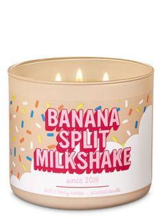 Home Fragrance Banana Split Milkshake Candle – Bath And Body Works Cute Candles, 3 Wick Candles, Best Candles, Scented Candles, Pink Candles, Bath N Body Works, Bath And Body Works Perfume, Aromatherapy Candles, Banana Split