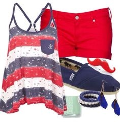 Really cute 4th of July outfit