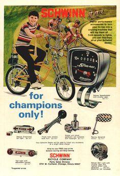 goshyesvintageads: Schwinn Bicycle Co, 1973