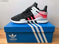 new products a3b10 0844e Adidas EQT Support ADV 91 16 Black Turbo Red PK SZ 8.5-10.5 SHIPS NOW  BB1302 nmd