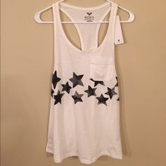 Roxy Muscle Tank Brand new! Loose-fitting. 100% cotton. Offers welcome :) Roxy Tops Tank Tops