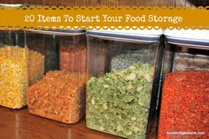 20 Items to Start Your Food Storage by Food Storage Moms