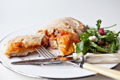 Homemade calzone from one of my favorite blogs... delicious!