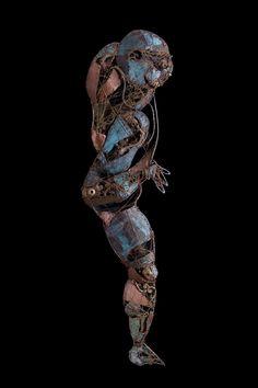 ArchFutura: #Astronaut - (2003) 170x40 - made with #copper, #bronze and #brass #sculpture #contemporaryart #art #metal #future