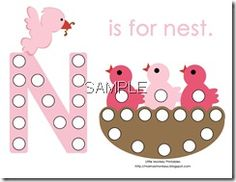 N is for nest printables