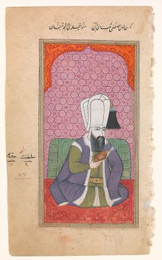 Portrait of Sultan Mustafa I, early 18th century. Turkey. The Metropolitan Museum of Art, New York. Purchase, Friends of Islamic Art Gifts, 2012 (2012.135) #mustache #movember