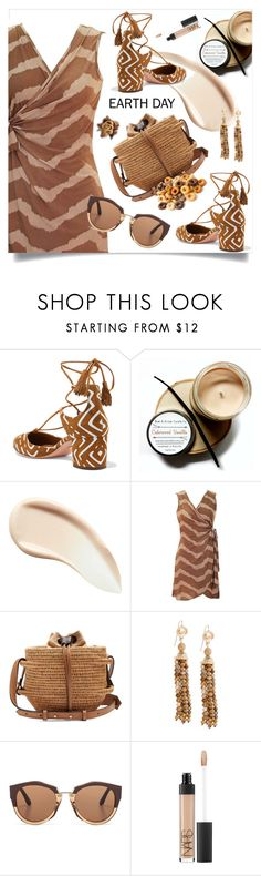 """Earth day"" by wuteringheights ❤ liked on Polyvore featuring Aquazzura, Burberry, Khokho, Marni and NARS Cosmetics"