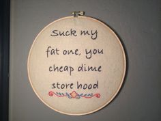 Hand Embroidered Felt Art Stand By Me Quote  by GlitchedStitchery, $25.00