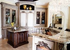 Habersham Custom Kitchen Cabinetry in Classic European Style