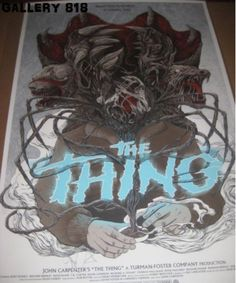THE THING Mondo Poster *SIGNED IN PERSON BYJOHN CARPENTER* randy ortiz olly moss #PopArt