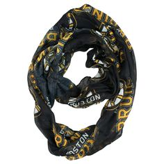 Made from a sheer fabric and printed with your favorite team's logo. This lightweight scarf can be worn in multiple fashion-friendly ways.