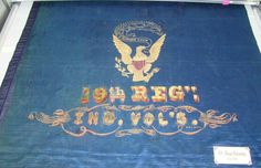The Iron Brigade's Indiana Volunteer Infantry's Regimental flag. Flags Of Our Fathers, Civil War Flags, Union Flags, America Civil War, Civil War Photos, Flag Colors, Military History, Color Guard
