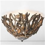 Reclaimed Driftwood Basket Ceiling Light
