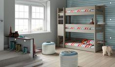 Lit superposé triple !!! Pour augmenter la capacité de couchages de votre location saisonnière - Trouvé sur anders-paris.com