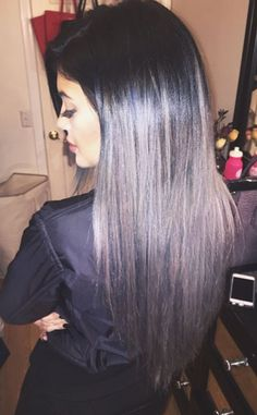 Kylie Jenner Goes Gray With New Ombré Hair Extensions—See the Look!  Kylie Jenner, Hair, Instagram
