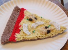 slice of knit pizza!