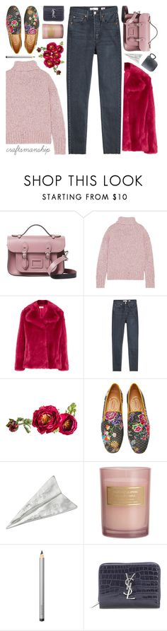 """join our new contest 'craftsmanship' (view description)"" by jesuisunlapin ❤ liked on Polyvore featuring The Cambridge Satchel Company, J.Crew, MICHAEL Michael Kors, RE/DONE, House Doctor, Stubbs & Wootton, H&M, Laura Mercier and Yves Saint Laurent"