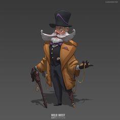 ArtStation - Wild West Character Design, Alessandro Pizzi