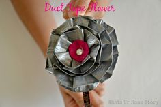Duct tape flower tutorial www.whatsurhomestory.com