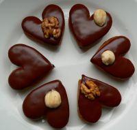 Milenčina srdíčka Christmas Chocolate, Christmas Sweets, Czech Recipes, Chocolate Coffee, Mini Cakes, Yule, Christmas Cookies, Sweet Tooth, Sweet Treats