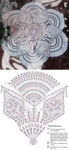 Crochet doily motif