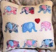 Elephants in Love Applique by Bustle & Sew, via Flickr