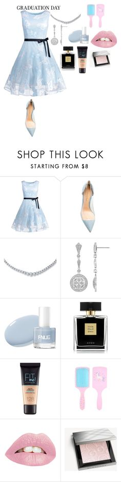 """""""Выпускной"""" by gazieva-dinara ❤ liked on Polyvore featuring Gianvito Rossi, Avon, Maybelline and Burberry"""