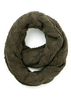 Go Outside and Plait Circle Scarf in Mossy Brown | Mod Retro Vintage Scarves | ModCloth.com